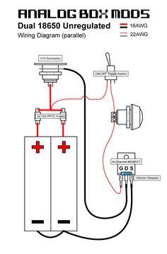diy box mod wiring diagram manual e books DIY Box Mods 18650 series battery mosfet wiring diagram box mods diy box mod, vapediy box mod wiring diagram