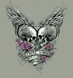 I think it should say TRUE LOVE instead of LETHAL ANGEL (which I actually think is kind of STUPID). Skulls, Skeleton, Skeletons, Skull