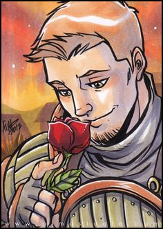 That One Special Rose by aimo.deviantart.com He just looks so adorable and Alistair and fangirling and awww