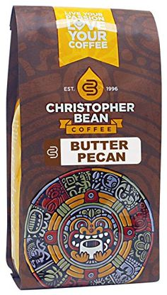 Christopher Bean Coffee Flavored Decaffeinated Ground Coffee, Butter Pecan, 12 Ounce * Want to know more, visit : Amazon fresh