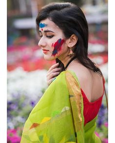 Image may contain: 1 person, closeup Beautiful Girl Indian, Most Beautiful Indian Actress, Holi Girls, Festival Photography, Nature Photography, Bollywood Actress Hot Photos, Bollywood Celebrities, Saree Photoshoot, Indian Girls Images