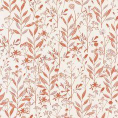 Laura Rose, Vintage Wallpaper Patterns, Pattern Wallpaper, Orange Wallpaper, Wall Wallpaper, Rose Texture, Feuille Eucalyptus, Motifs Roses, Discount Home Decor