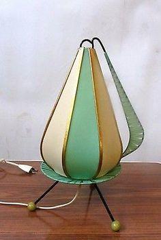 Seltene schöne 50er Jahre Lampe Leuchte Tischleuchte