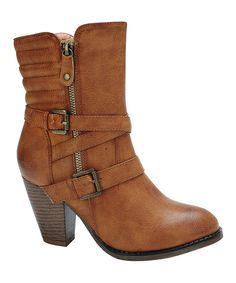 Nature Breeze Tan Ribbed Outcast Bootie by Nature Breeze #zulily #zulilyfinds