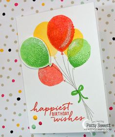 Balloon Celebration Cards with Wink of Stella pen | Patty's Stamping Spot | Bloglovin'