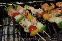 Brochettes de poisson -