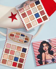 treat yourself to our new sailor palette 😍 this palette has all the shades you need for warm and cool daily glam looks plus fun pops of navy blue and cherry red 🍒 sailor collection launches 8.31 💙