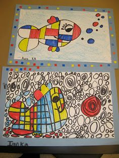 Jamestown Elementary Art Blog: Kindergarten Piet Mondrian Fish