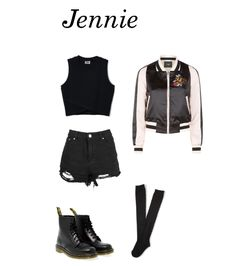 Outfit inspired by: BLΛƆKPIИK Jennie 'Whisle'