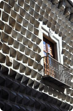 The town of Segovia in Spain, just a few hours outside of Madrid, is home to a beautiful castle and some amazing architecture like this bizarre facade