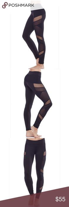 Electric Yoga Sexy Mesh Panel Leggings (s) ($115) Great condition- lightly worn  Black mesh and fishnet detailed pants by electric yoga in a size small Orig $115 Electric Yoga Pants Leggings