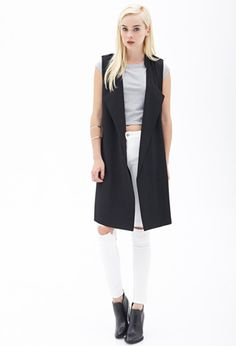 Forever 21 is the authority on fashion & the go-to retailer for the latest trends, styles & the hottest deals. Travel Outfit Summer, Summer Travel, Long Vests, Layering Outfits, Looking To Buy, Capsule Wardrobe, White Jeans, Latest Trends, Duster Coat