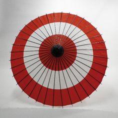 和傘 - 紙舞日傘 蛇の目柄