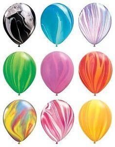 "5-12 11"" Agate Latex Balloons Tye Dye Swirl Camo Party Decoration Happy Birthday"
