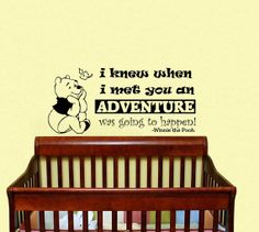 Housewares Winnie the Pooh I Knew When I Met You by DecalHouse, $24.65