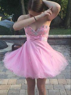 Pretty Sweetheart A-Line Short Prom Dresses, Homecoming Dress, Short Homecoming Dresses