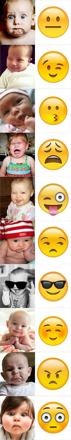 We all add emojis at the end of our texts in order to make them more lively and showing our facial expressions through messages. However, different emojis can add different emotions to your text and if you use them wrongly, the recipients might get the wr Funny Baby Faces, Memes Funny Faces, Funny Babies, Funny Kids, Funny Humor, Memes Humor, Super Funny, Funny Cute, Hilarious