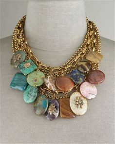 """This Stephen Dweck Multi-Stone Necklace ($795) has an earthy, but very chic vibe to it. Known as """"The Romancer of the Stones,"""" Stephen Dweck is strongly influenced by his love of art and nature."""