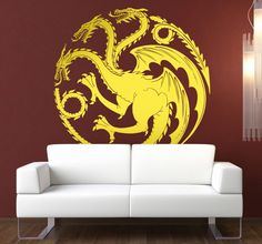 Get this amazing Targaryen Games of Thrones Vinyl Sticker as a decoration for Your bedroom! A must have for all Game of Thrones fans!!!