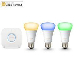 Kit initiere Philips Hue, 3 becuri LED 10W A19 E27