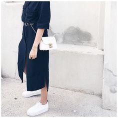 Navy dress & furla bag || Now on my #blog || sac #furla on @edisaccom