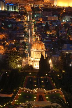 The Baha'i Shrine of the Báb in Haifa, Israel. Can't wait to be back in this glorious place in just a few months!!