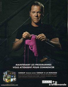 Jack Bauer tricote en vous attendant. En effet, Jack Bauer reviendra pour sauver le monde dans une nouvelle saison de 24 en mai 2014.