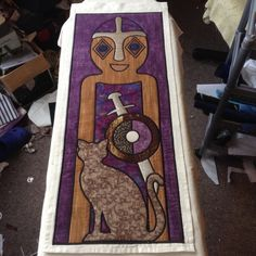 Freyja, this one in purples and she has come out lovely. yay #Freyja #norsegods #PollyLindArtist