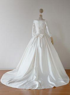 袖付きドレスの裏