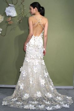 Vestido de novia a crochet