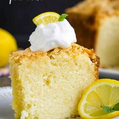With a bright lemon flavor Best Triple Lemon Pound Cake Recipe is buttery tender dense yet moist. It's a simple elegant classic cake. Instant Pudding, Cupcakes, Cupcake Cakes, Easy Desserts, Dessert Recipes, Lemon Desserts, Baking Desserts, Baking Recipes, Delicious Desserts