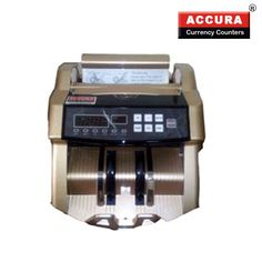 Cash Counting Machine with Fake Note Detection. Accura Currency Counters comes from a 14 years old ISO certified company. Accura Currency Counters have been tried and tested by over 30,000 customers. Even a single note of 500/1000 can be checked therefore saving you from loss It also detects notes prior to 2005 as per RBI guide lines.