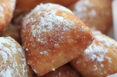 This beignets recipe features fried choux fritters and confectioners' sugar. Classic beignets.