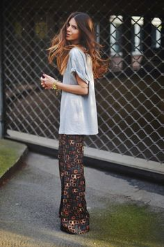 22 Trendy Ideas For Jewerly Boho Chic Shirts Boho Chic, Bohemian Mode, Bohemian Fall, Bohemian Style, Looks Street Style, Looks Style, Style Me, Trendy Style, Trendy Hair