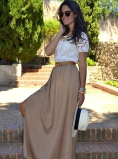 Finally figured out how to wear my maxi skirt :)