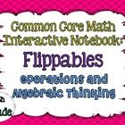 This resource contains 9 flippables to use while teaching the Operations and Algebraic standards of the 5th Grade Common Core standards.    Each flip...