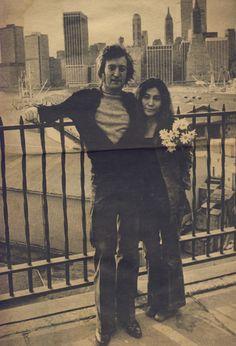 John Lennon y Yoko Ono, New York City, June 25th 1972. Brooklyn Heights…