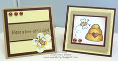 Honey Bee Cards Set #2 by suzannejdean - Cards and Paper Crafts at Splitcoaststampers