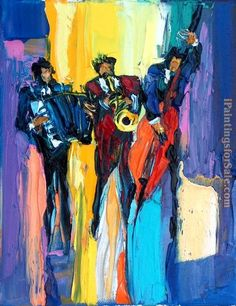 Maya Green Jazz Cafe oil painting for sale; Select your favorite Maya Green Jazz Cafe painting on canvas or frame at discount price. Music Painting, Music Artwork, Art Music, African American Art, African Art, Jazz Cafe, Black Art Pictures, Cafe Art, Art Abstrait
