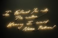 Tracey Emin: I Followed You Into The Water Knowing I Would Never Return