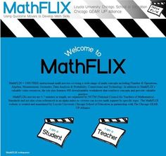 MathFLIX = 1000 FREE instructional math movies covering a wide range of math concepts including Number & Operations, Algebra, Measurement, Geometry, Data Analysis & Probability, Connections and Technology. In addition to MathFLIX's valuable video resources, the site also features 400 downloadable worksheets that reinforce concepts and provide valuable practice.
