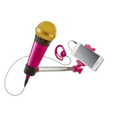 Microphone meets selfie stick to take you beyond Karaoke. Using the free included partner app, sing along to your favorite  songs from a catalog of over 3 Million songs with updates daily. Voice and video effects make  you sound and look like a star.<br><br>The SelfieMic Music Set - Pink Features:<br><ul><li>Microphone meets selfie stick to take you beyond Karaoke.</li><br><li>Using the free included partner app, sing along to your favorite...