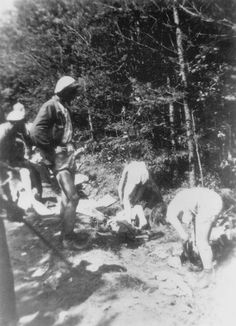 Rzeszow, Poland, Women undressing before their execution in the forest.