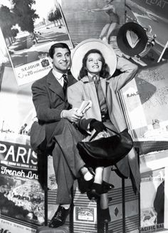 """Cary Grant and Katharine Hepburn in """"Holiday"""" (1938). Screwball is perhaps the Depression's most distinctive creation. Credit Photograph from Everett ..."""