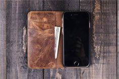 Wallet Phone Case personalized case iphone 6 plus case leather iphone 6 case…
