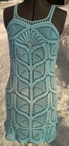 Oh-la-la fully lined crochet dress for my friend
