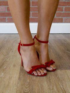 Hayden Ankle Strap Sandal - Red