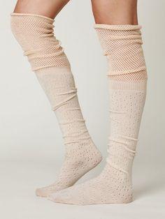 Free People Mesh Ballet Tall Sock,