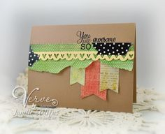 Card by Janelle Stollfus using Verve Stamps.  #vervestamps