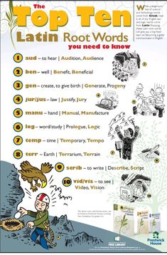 The Top Ten Latin Root Words You Need to KnowYou can find Root words and more on our website.The Top Ten Latin Root Words You Need to Know Latin Language Learning, Teaching Latin, Teaching Spanish, Latin Root Words, Latin Phrases, Greek Phrases, Vocabulary Strategies, Vocabulary Instruction, Vocabulary Games